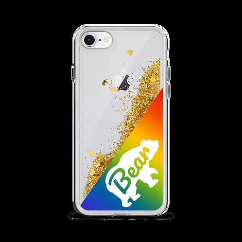 Bear Pride Liquid Glitter Phone Case