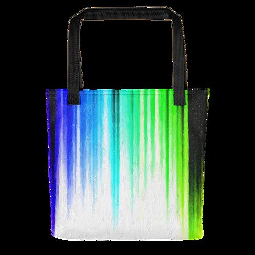 Blue & Green Paint Drip Tote bag