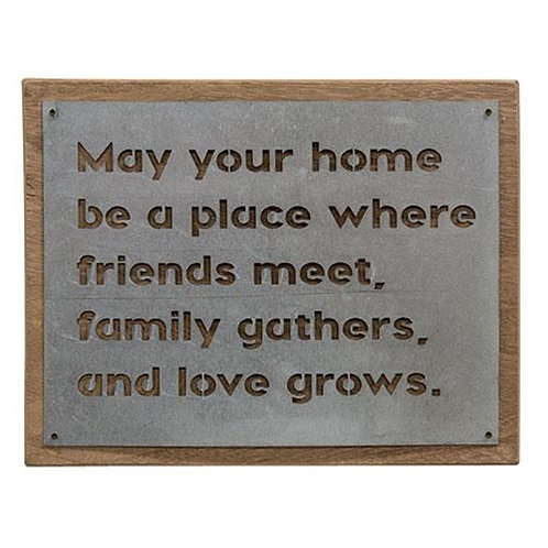 In Our Home Metal Sign