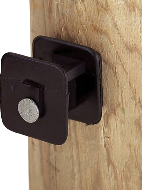Black Widow Insulator for Wood Post by Dare
