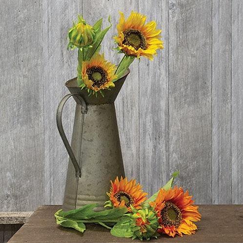 """Sunflower Stem, 2 Asstd., 26.5"""" H"""