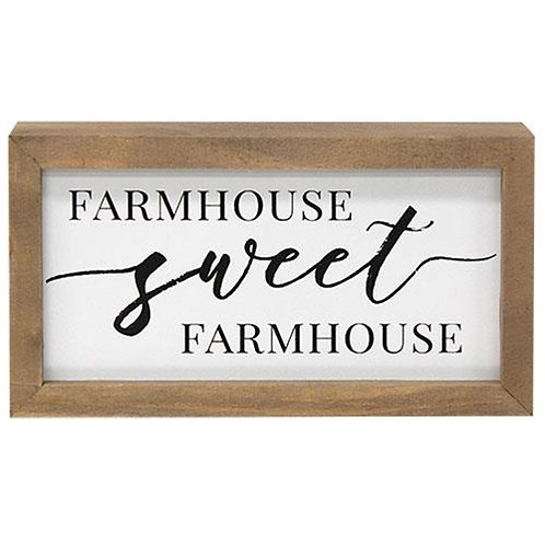 Farmhouse Sweet Farmhouse Framed Box Sign