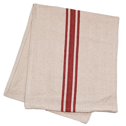 Grain Sack Red Stripe Towel