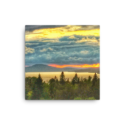 Rangeley Sunset Canvas