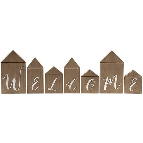 """Welcome"" House Blocks, 7/Set"