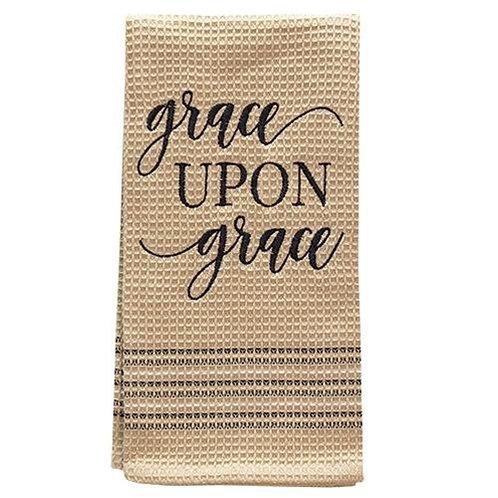 Grace Upon Grace Dish Towel, 20x28