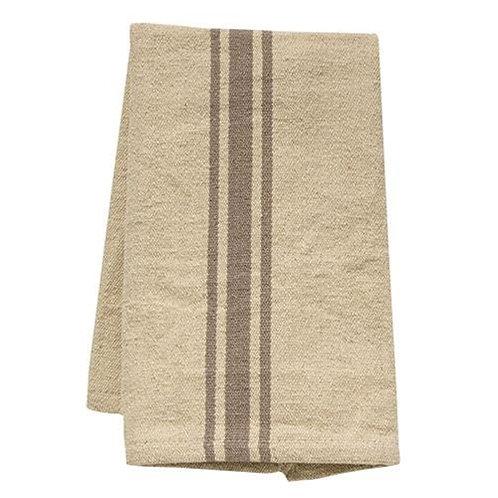 Grain Sack Gray Stripe Towel