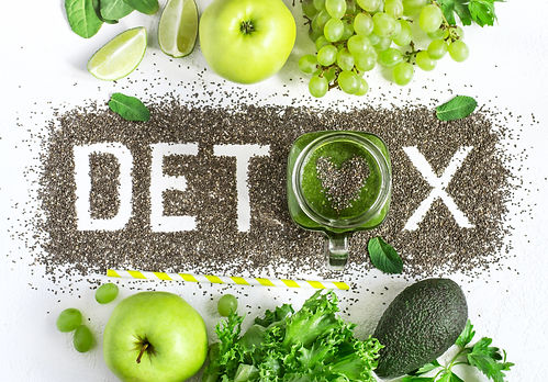 Word detox is made from chia seeds. Gree