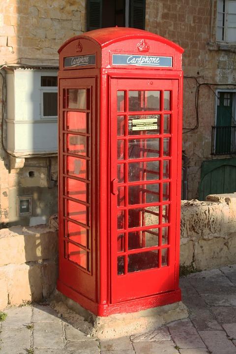 Cardphone in a street of Valletta
