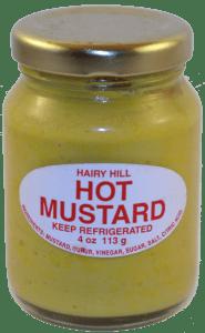 "BBQ Mustard ""Hairy Hill Hot"""