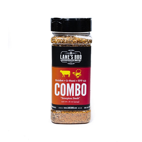 "Lane's BBQ ""Combo:Brisket + Q-Nami + SPF-53"" Scorpion Rub"
