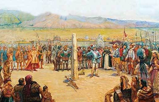 """Para fundar una ciudad había que clavar un """"Rollo"""" en el centro de la plaza mayor"""