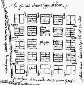 Plano Santiago León de Caracas 1578