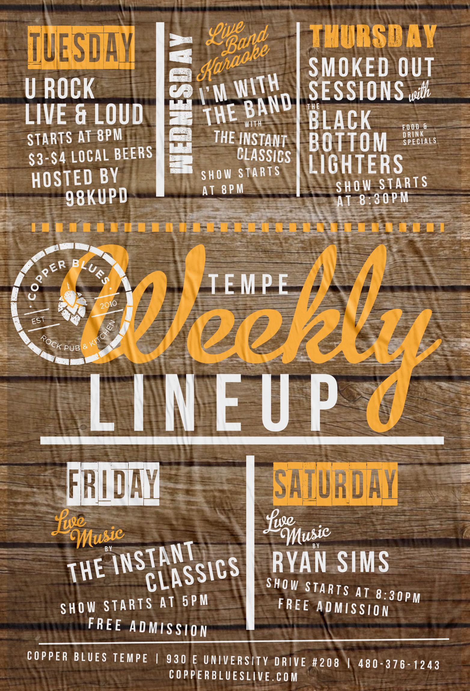 Weekly Lineup Flyer Design