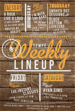 Weekly Lineup Flyer Design