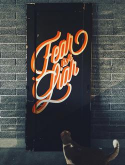 Untitled - Acrylic on Wood Door