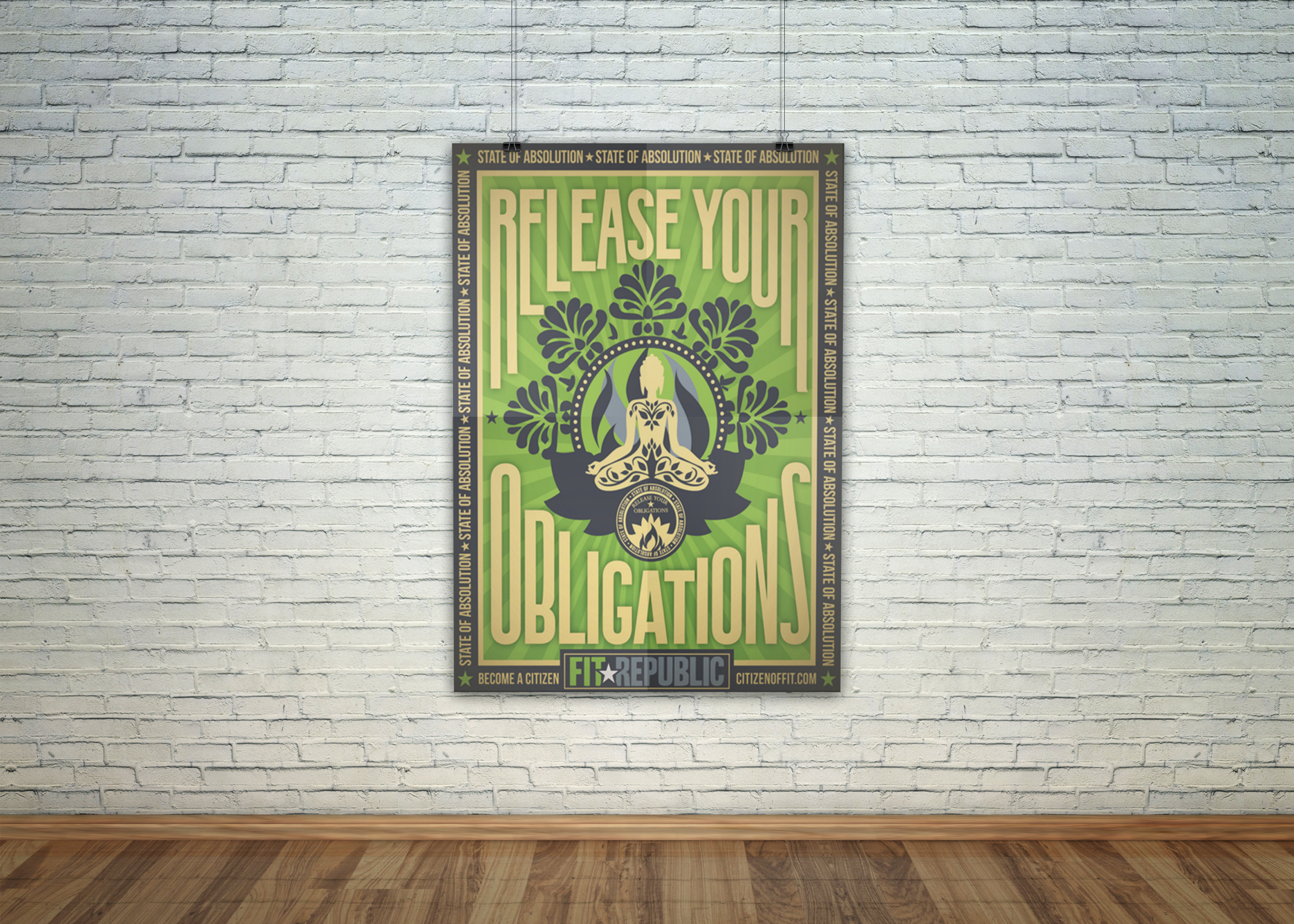 Yoga Studio Poster Art