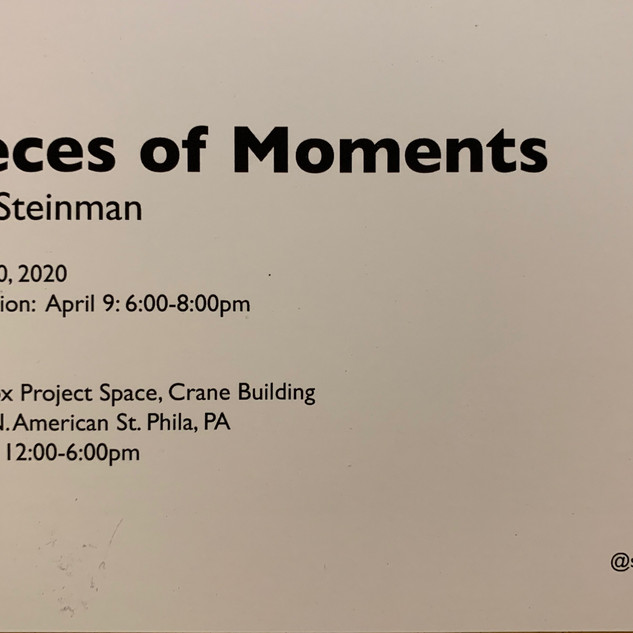 """""""Pieces of Moments"""" Postcard (BACK)"""