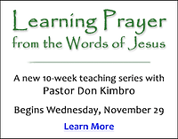 Learning Prayer from the Words of Jesus