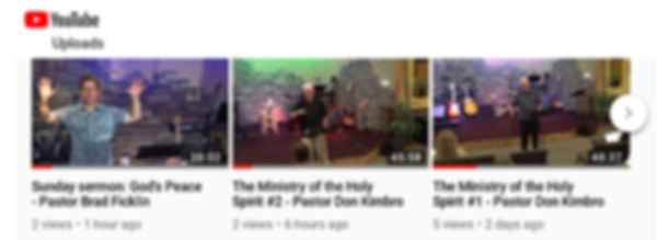 View sermon and teaching archive on YouTube