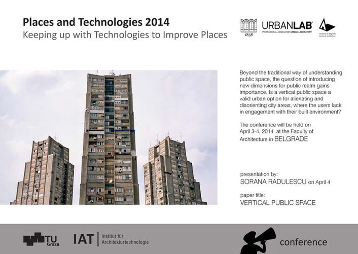 Places and Technologies 2014 | Urban LAB