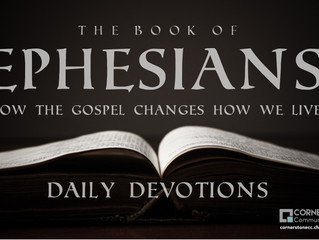 Ephesians (W9D6) Prepare for Sunday