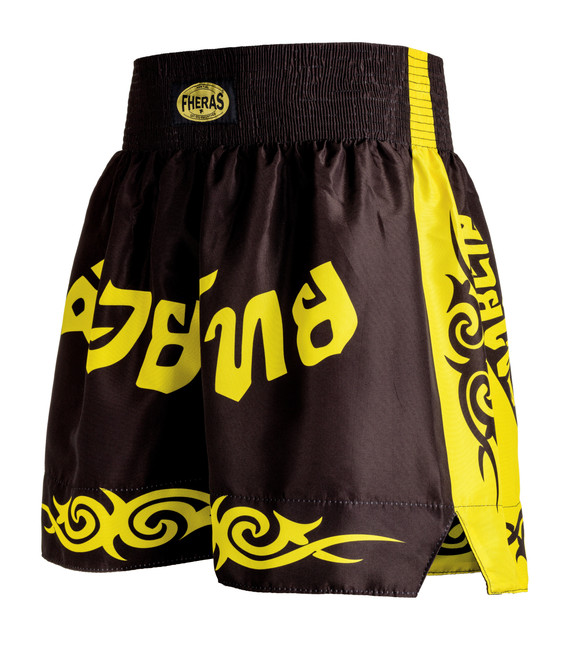Shorts Fheras Tribal Preto/Amarelo - REF 1308
