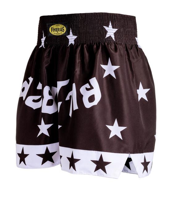 Shorts Fheras Star Preto/Branco - REF 1327