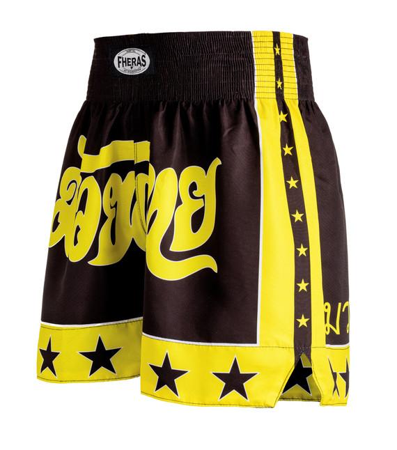 Shorts Fheras Estrela 2 Preto/Amarelo - REF 1335