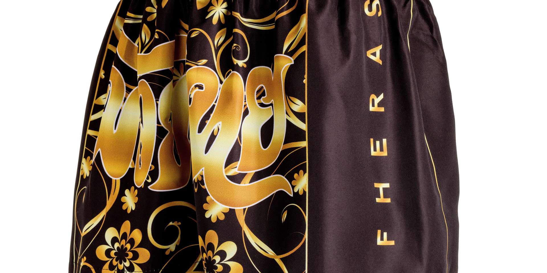 Shorts Fheras Flowers Gold Muay Thai