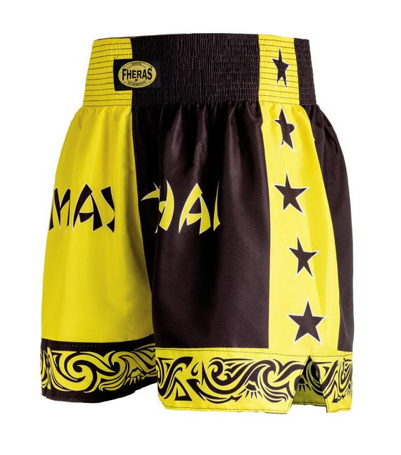 Shorts Fheras Bicolor Amarelo/Preto - REF 1314