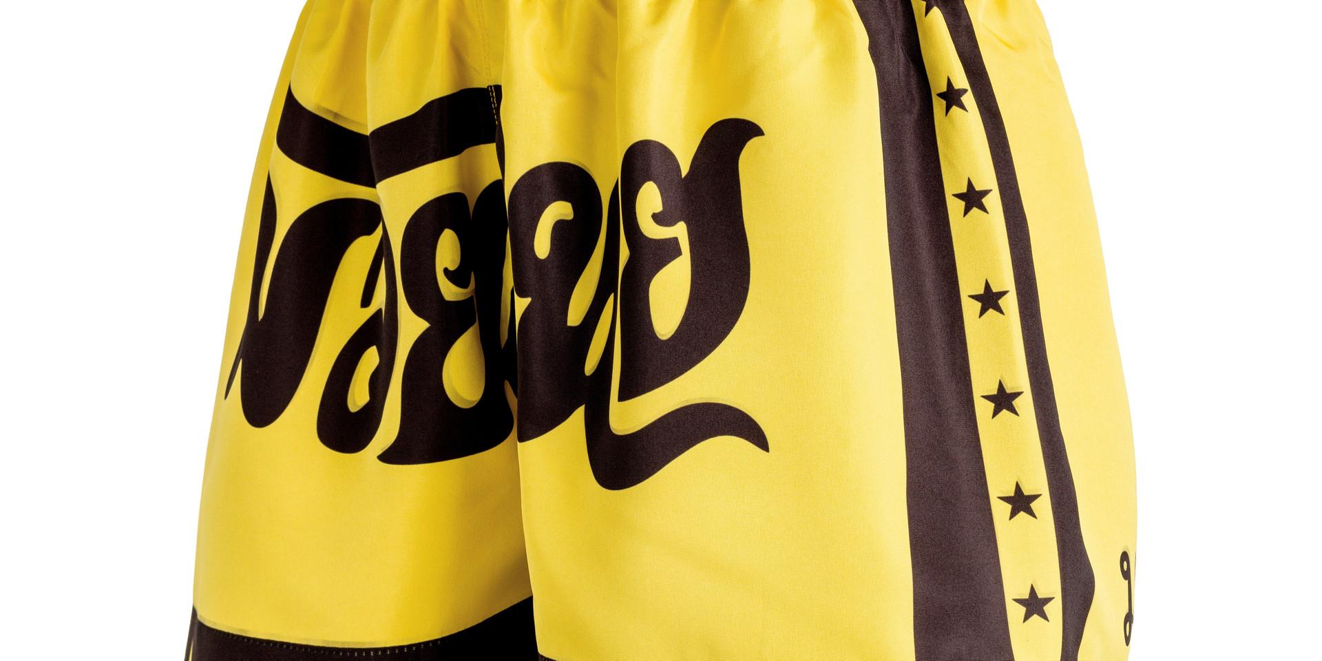 Shorts Fheras Estrela 2 Amarelo/Preto