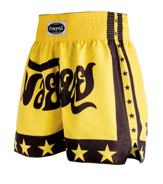 Shorts Fheras Estrela 2 Amarelo/Preto - REF 1343