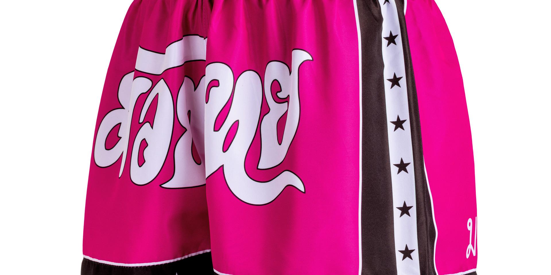 Shorts Fheras Estrela 2 Rosa/Preto
