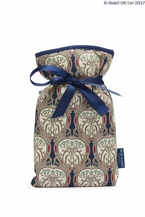 Blue Badge Mini Hot Water Bottle - Art Noveau
