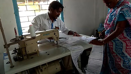 IIMC Sewing Unit and Women's cooperative make coronavirus protection masks.
