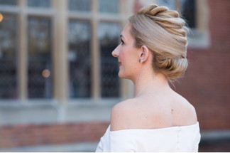 Modern updo for Bridesmaid