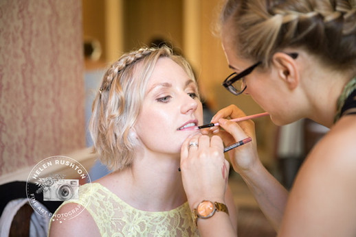 Finishing touches of Bridal Makeup