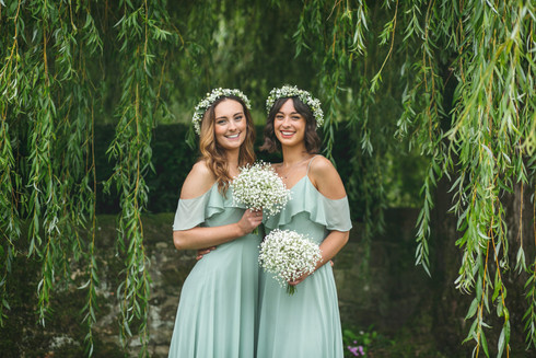 Bridesmaids Hair and Flower Crowns