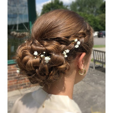 Special Occasion plaited updo