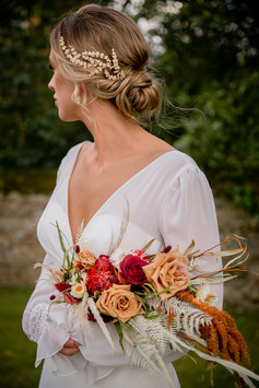 Soft Updo with gold accessories