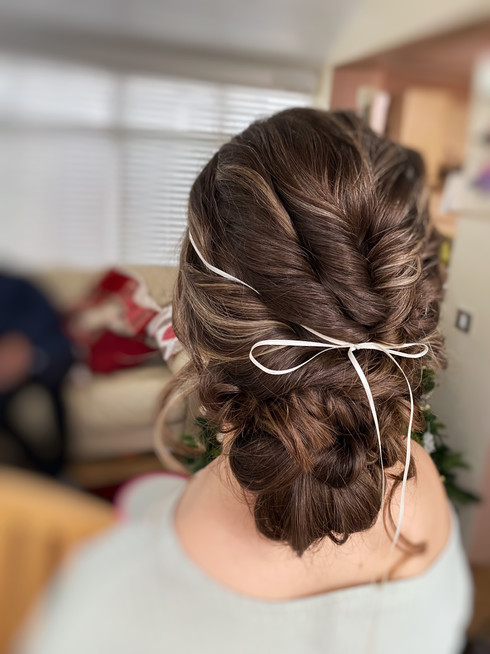 Loose twisted updo