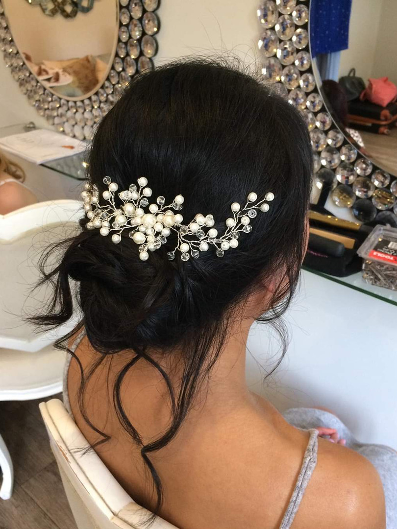Hair updo for bridal