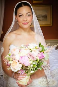Bridal Hair and Makeup with veil