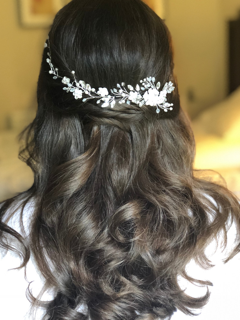 Half up half down Hair with Accessory