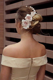 Special Occasion Hair Updo with Flowers