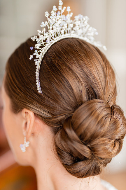 Detailed Bridal Bun with Accessories