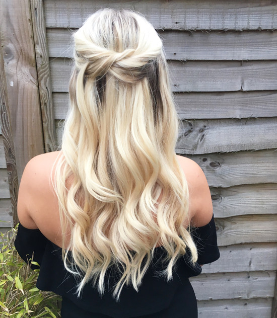 Simple and chic half up half down