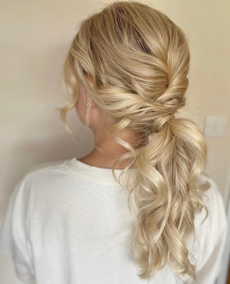 Modern ponytail for special occasion