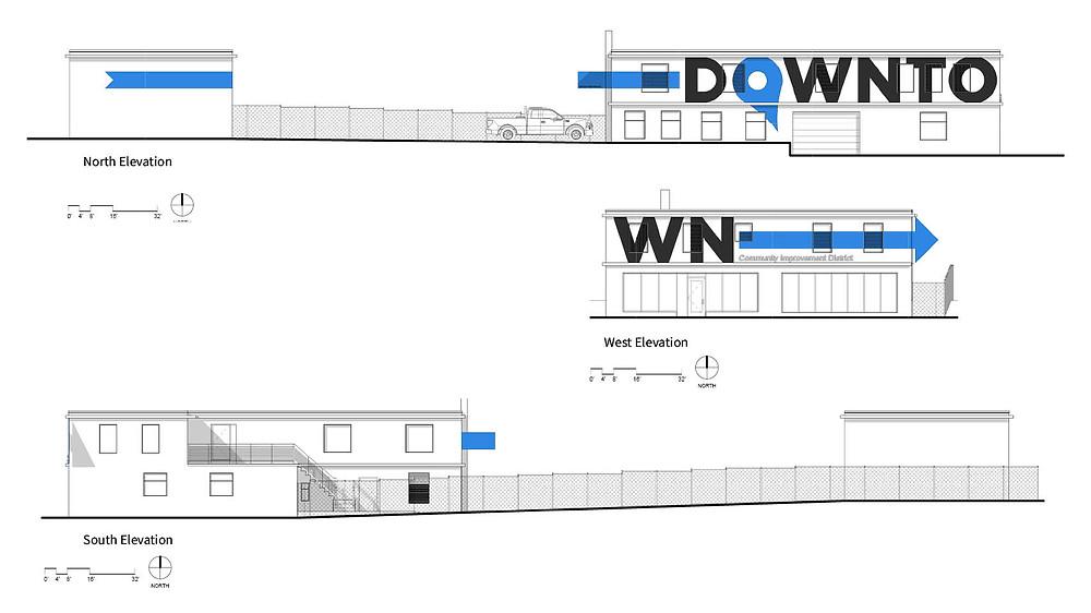 Downtown Springfield CID Building elevation renderings